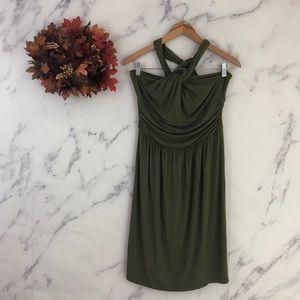 LOFT Ann Taylor Halter Neck Midi Dress